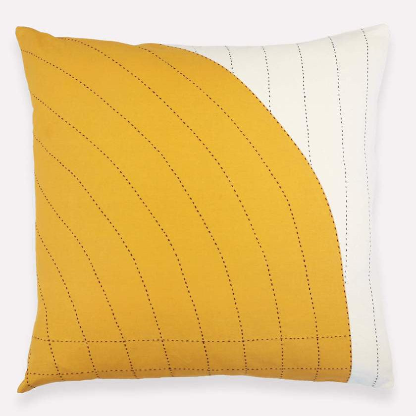 Anchal - Gold Curve Toss Pillow Case