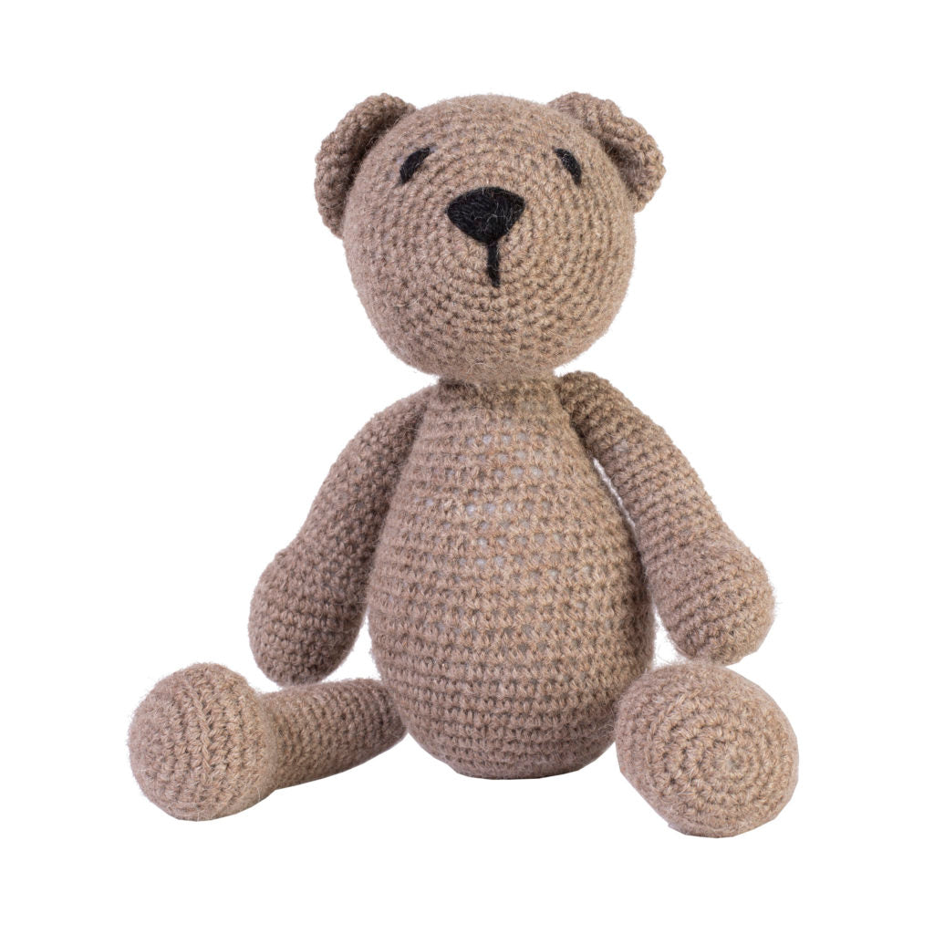 Brown knit teddy bear