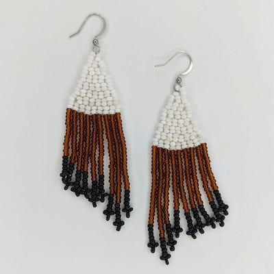 Handmade Brown Quill Earrings by Kimber Elements