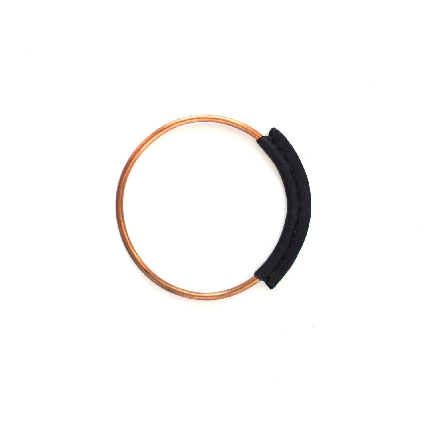 Haiti Design Co - Copper + Leather Bangle