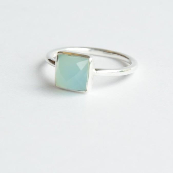 Fair Anita - Sultry Sea Ring in Chalcedony