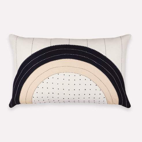 Anchal - Eclipse Dot Lumbar Pillow - Pillow Cover
