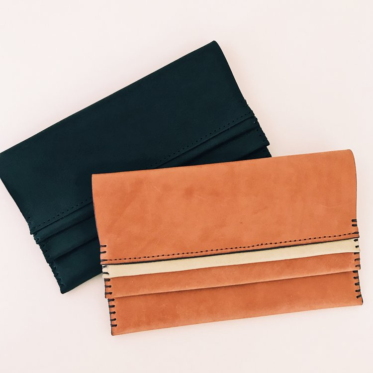 Haiti Design Co Elle Leather Clutch