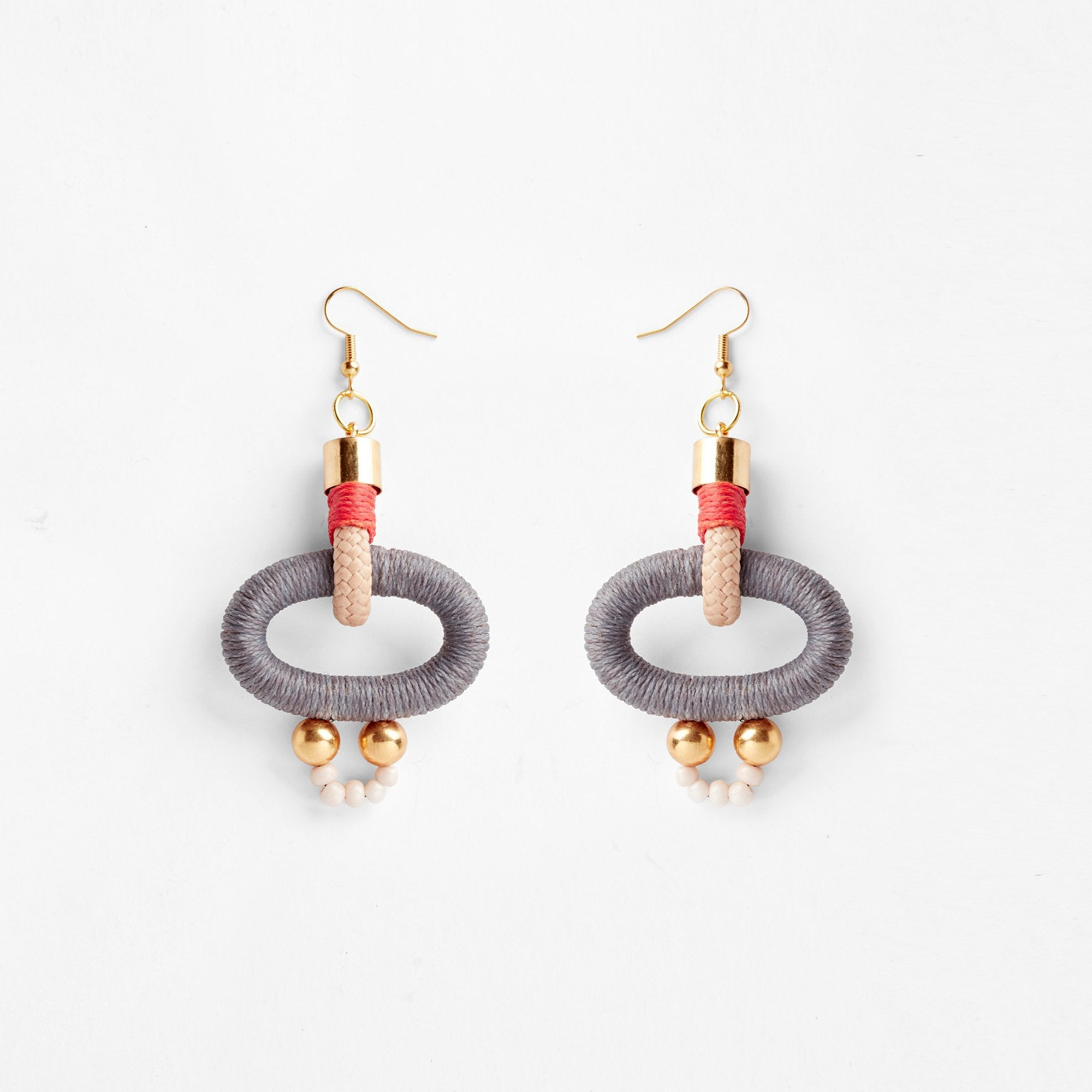 Gamma Grey Orange Earrings by Pichulik