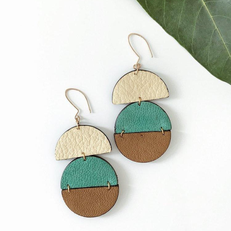 Haiti Design Co Gia Leather Earrings