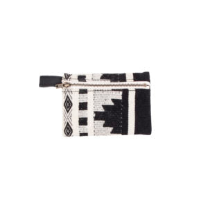 Black and white patterned coin purse