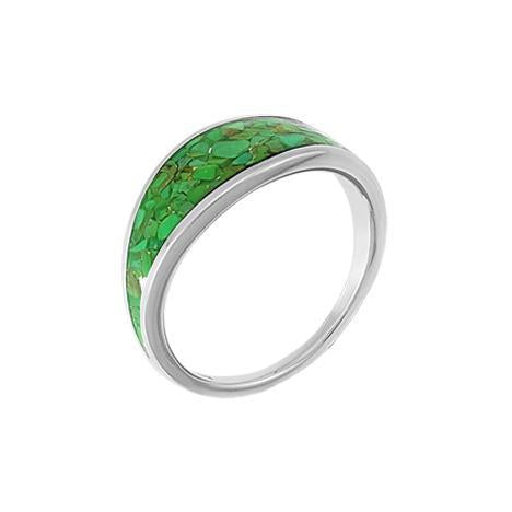 Boma sterling silver green turquoise resin ring