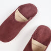 Babouche Moroccan slippers in maroon suede by SOCCO