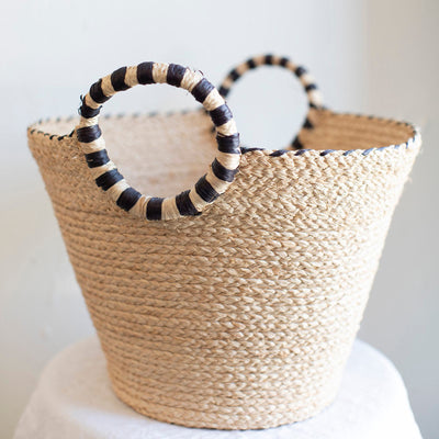 Handmade straw basket ethically made in Madagascar