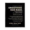 Single use smoothing face mask by Alder new york package