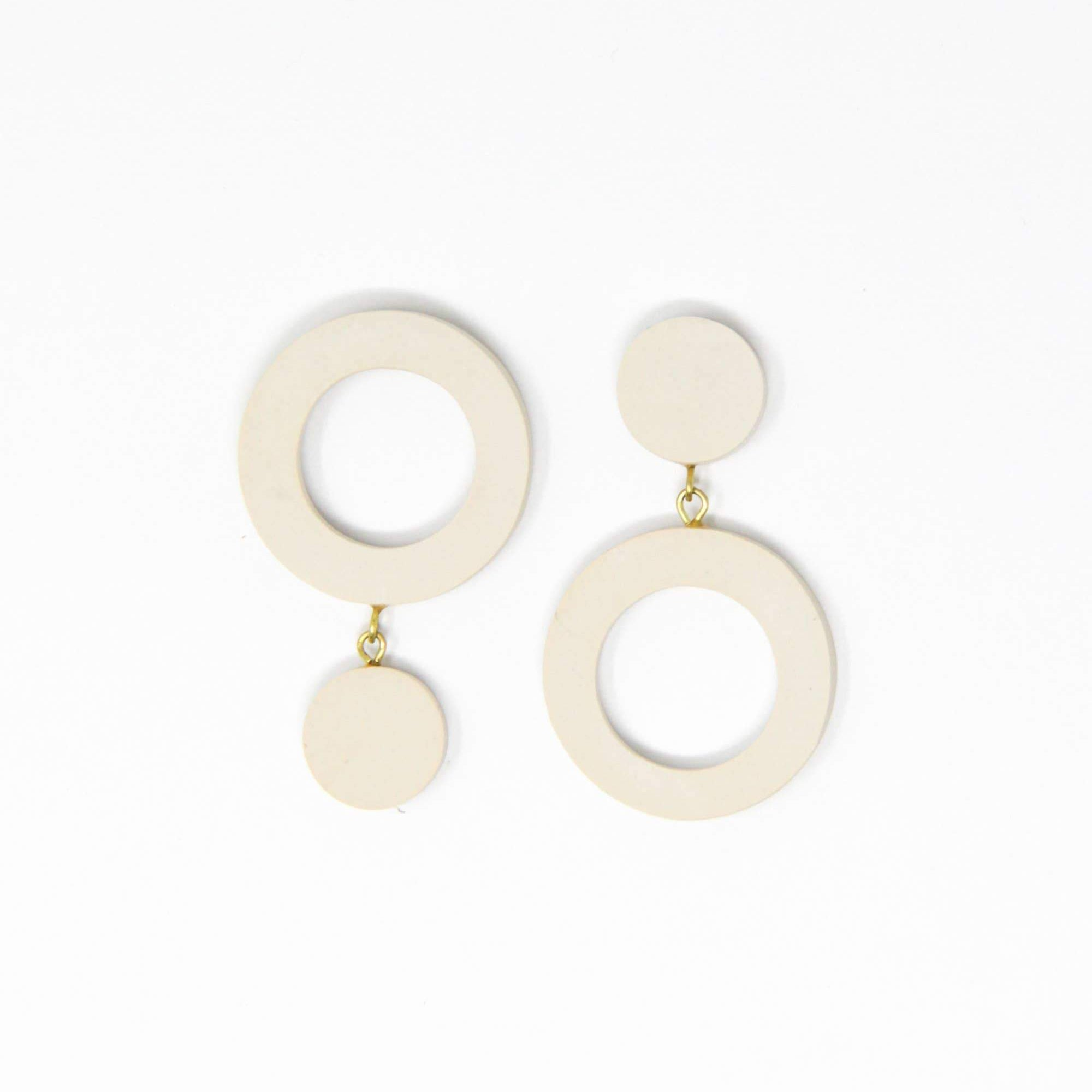 Rover & Kin Double Reverse Circles Earrings