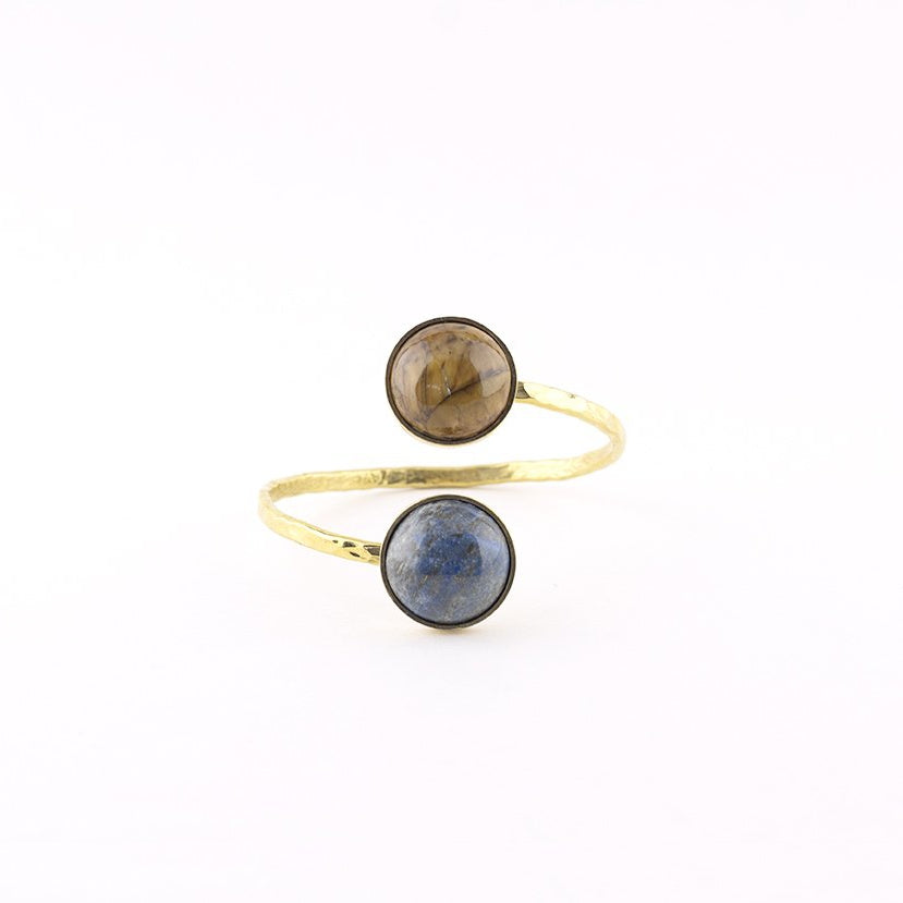CURA Collection - Brass stone bracelet