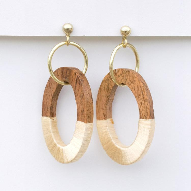 Berkeley Wood Earrings by Mata Traders