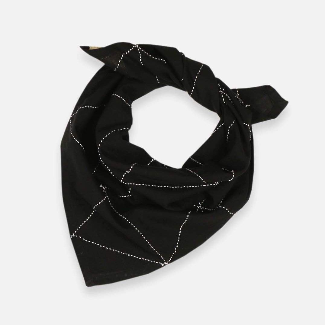 Black bandana with cross stitch graph pattern