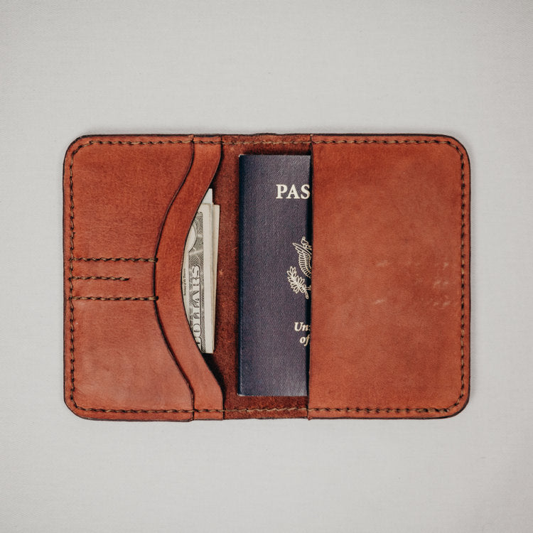 brown leather passport color