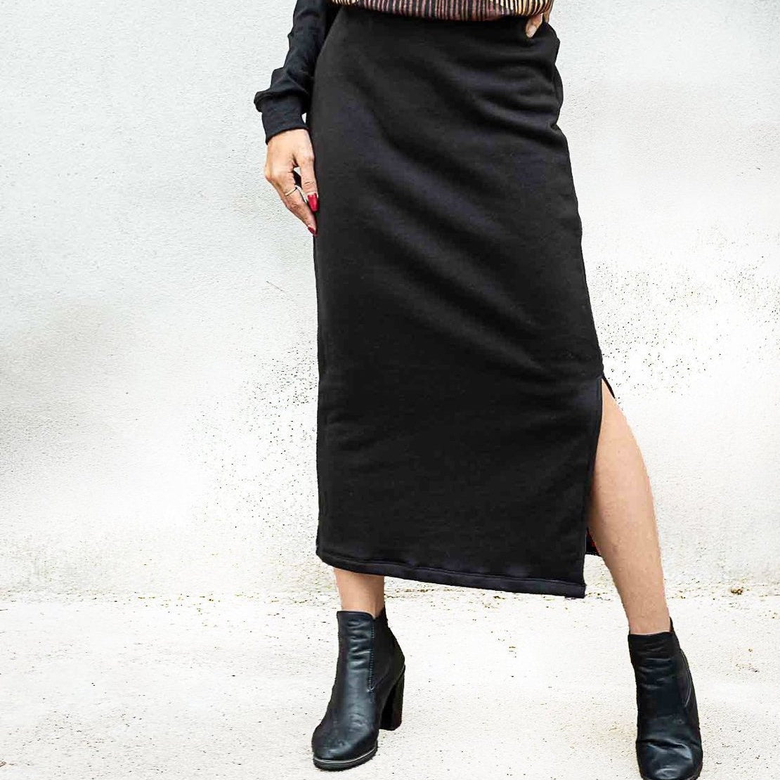 Sweatshirt skirt by Tonle-multiple colors