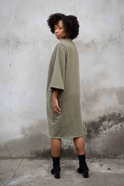 Sweatshirt dress with bell sleeves by Tonle-multiple colors
