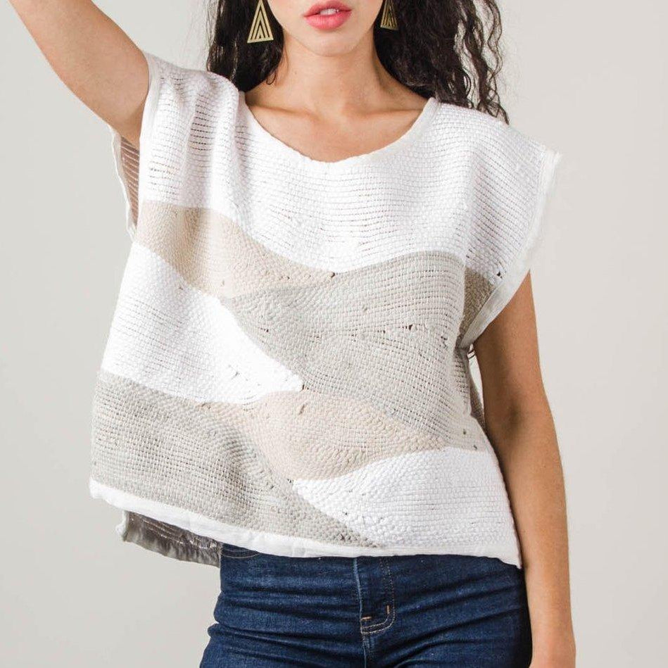 Handwoven Sweater Top landscape design- By Tonle