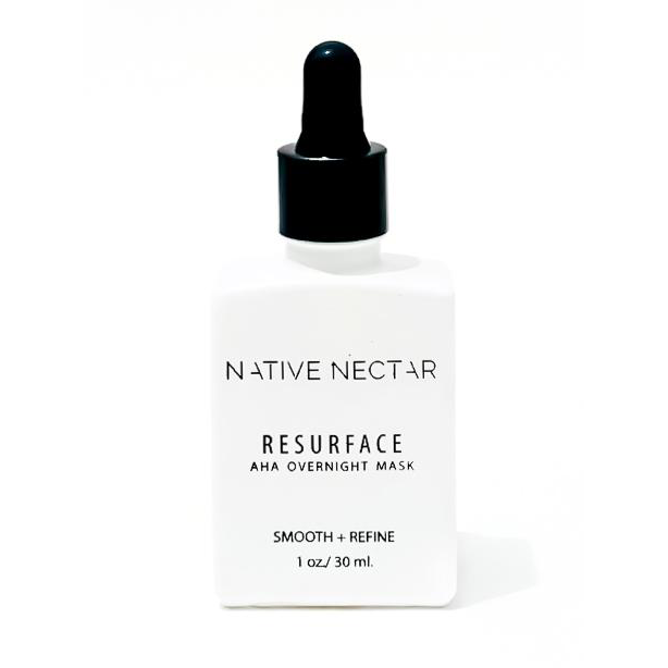 native nectar resurface overnight mask bottle