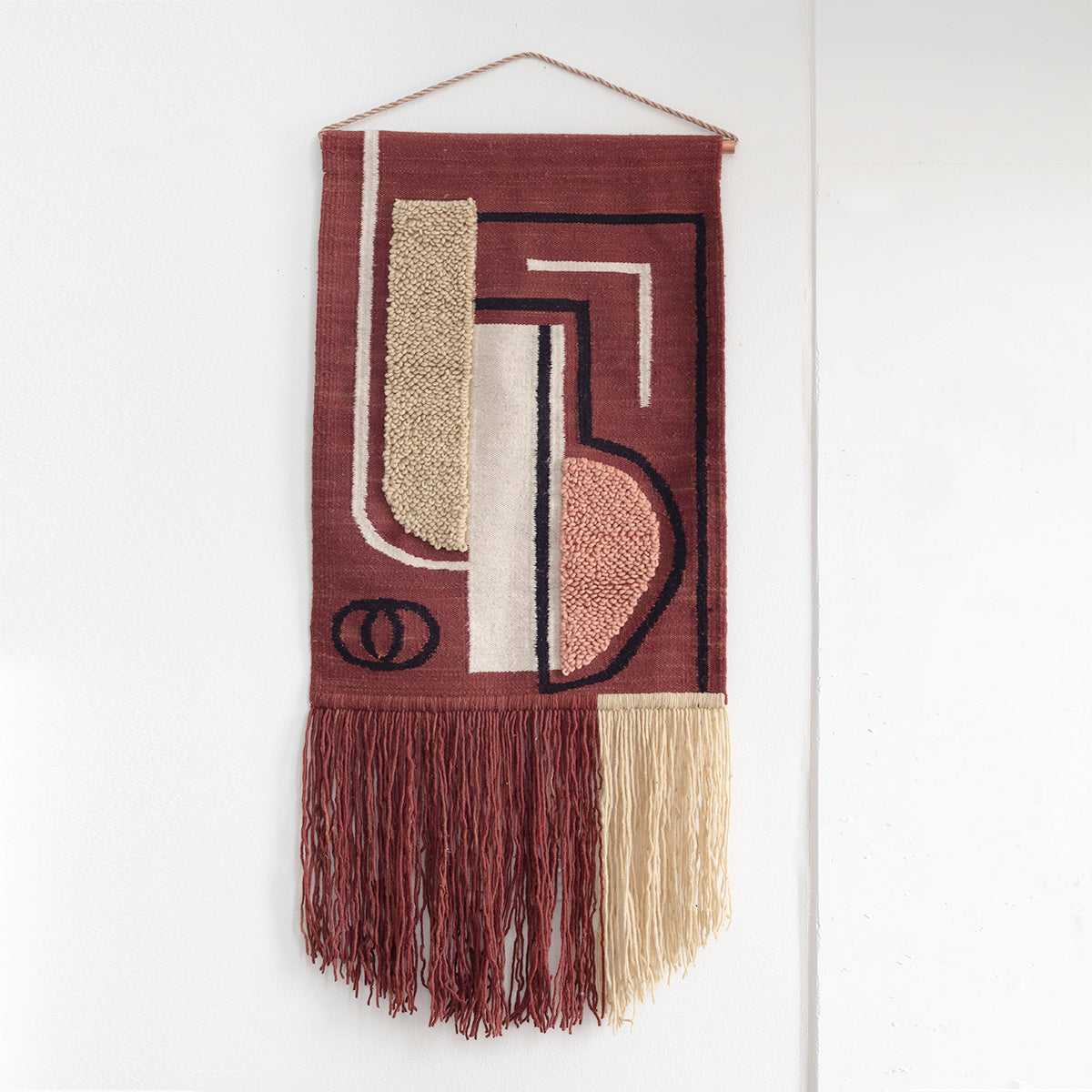 "TAPESTRY HAND WOVEN WALL HANGING ""ABSTRACTO"" BY CURA COLLECTION"