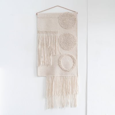 "TAPESTRY HAND WOVEN WALL HANGING ""EL CIRCULO 1"" BY CURA COLLECTION"