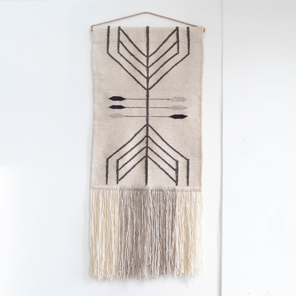 "TAPESTRY HAND WOVEN WALL HANGING ""VIBRANIUM"" BY CURA COLLECTION"