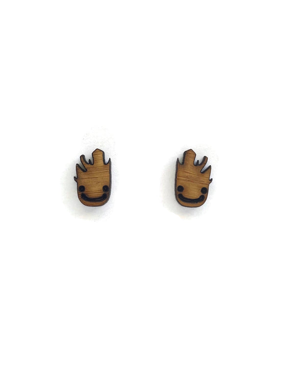 Bamboo Groot Stud Earrings