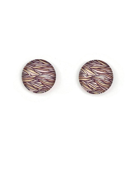Abstract Weaves Stud Earrings