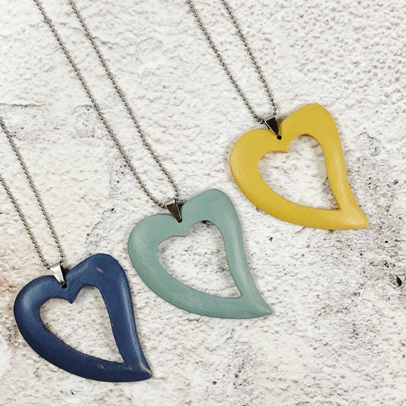 Mel Love Heart Necklaces - Available in a variety of colours