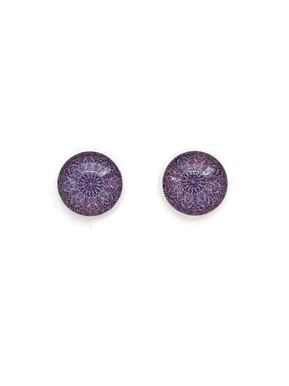 Brown Mandalas Stud Earrings