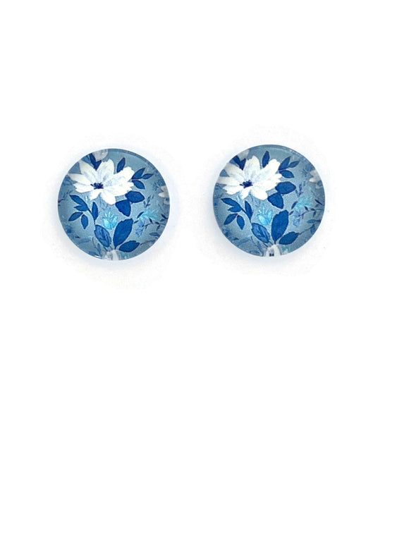 Turquoise Florals Stud Earrings