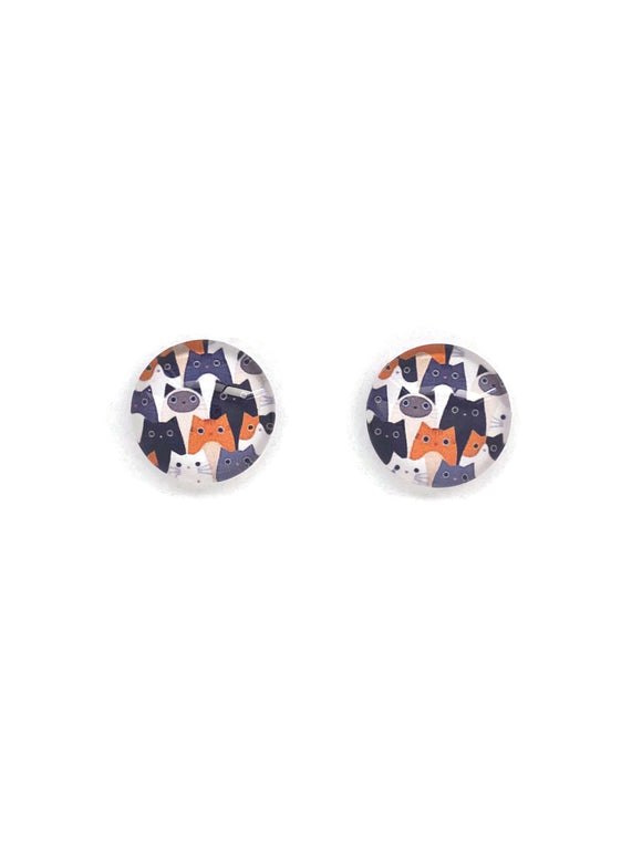 Cats Stud Earrings