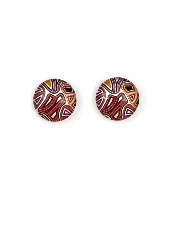Aboriginal Art Studs Earrings