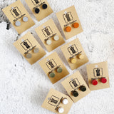 Melanie Stud Earrings - Available in a variety of colours