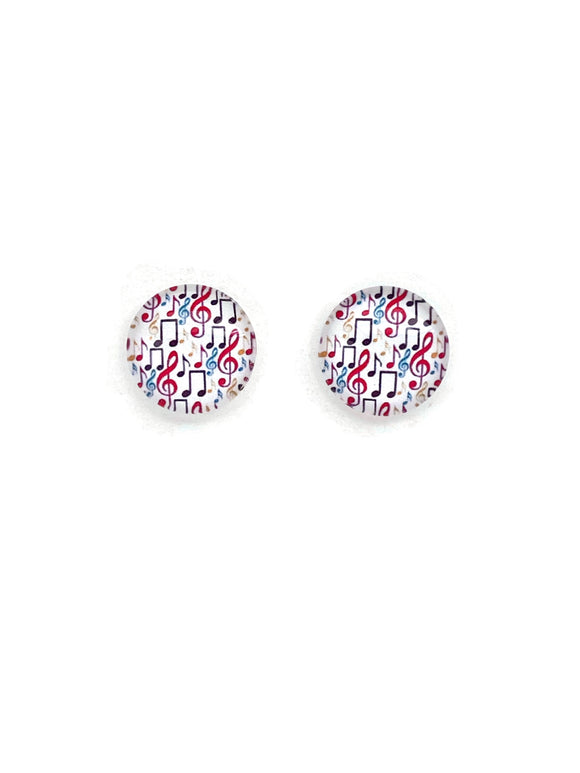 Music Notes Stud Earrings
