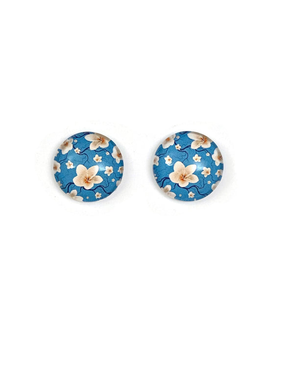 Frangipanis Stud Earrings