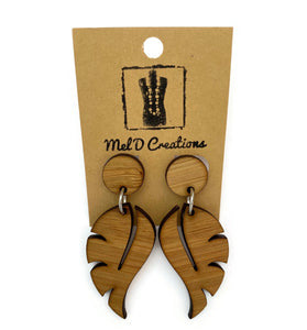 Bamboo Leaf Dangle Earrings