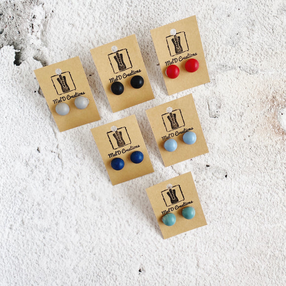 Monica Stud Earrings - Available in a variety of colours
