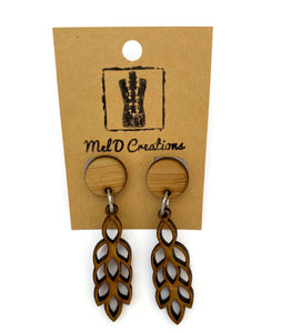 Bamboo Lavender Dangle Earrings
