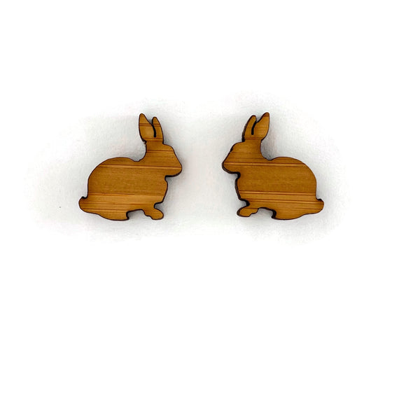 Bamboo Bunny Stud Earrings