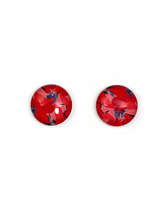 Luxurious Reds Stud Earrings
