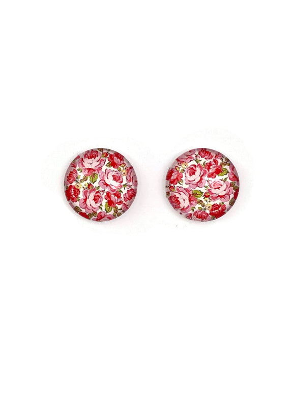 Dainty Roses Stud Earrings