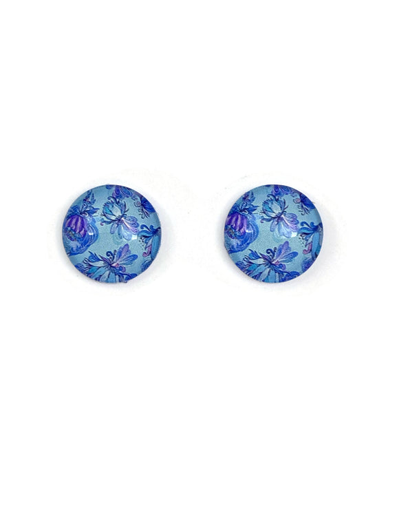 Flamboyant Butterflies Stud Earrings