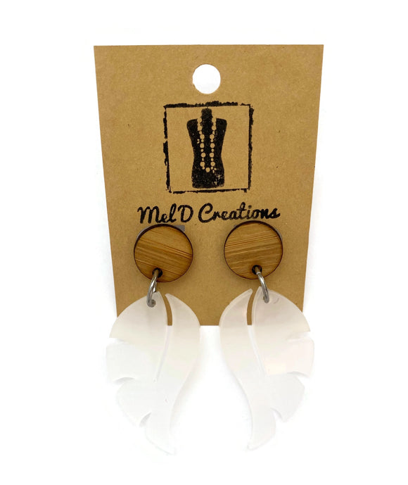 Perspex  Leaf Dangle Earrings