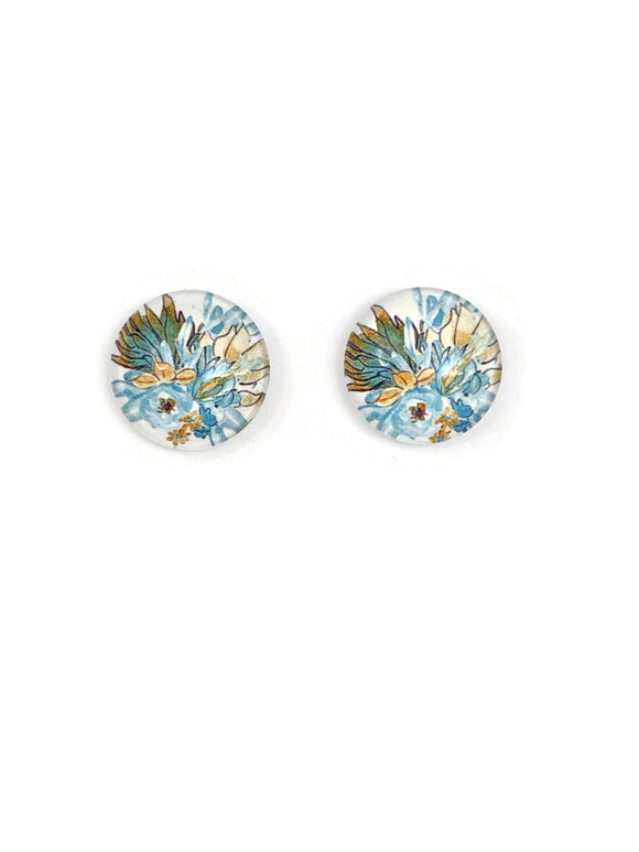 Boho Flowers Stud Earrings