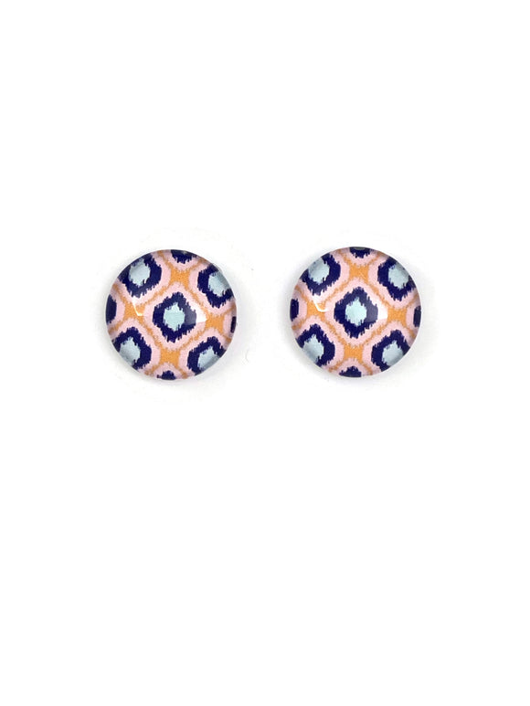 Abstract Square Art Stud Earrings