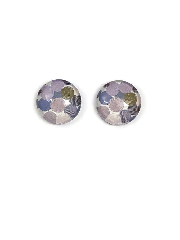 Grey Blobs Stud Earrings