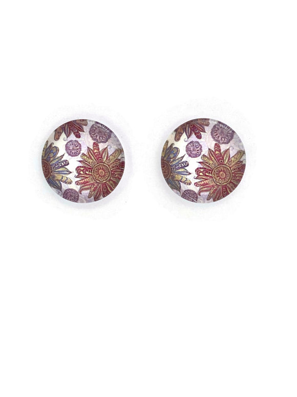 Antique Florals Stud Earrings