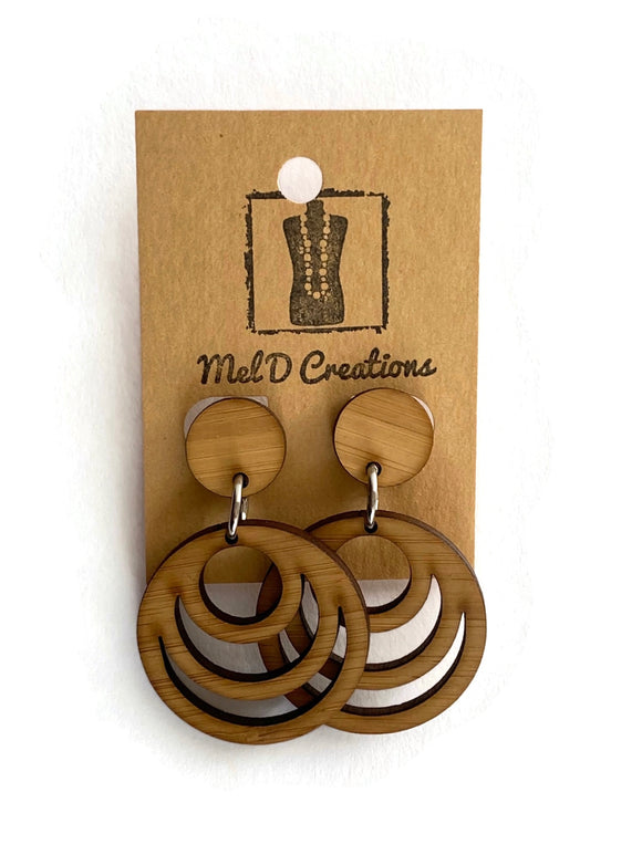 Bamboo Circles Dangle Earrings