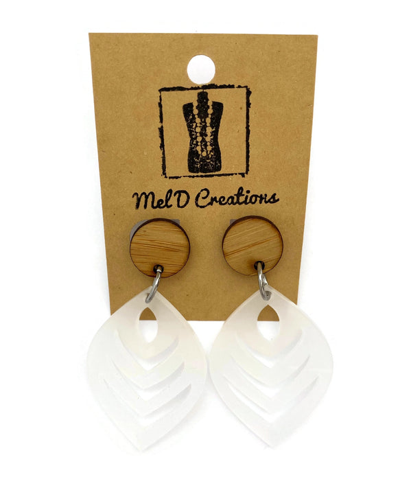 Perspex Feather Dangle Earrings